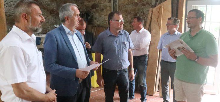 Besuch des sächsischen Staatsministers für Landwirtschaft und Umwelt